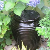 A gurgling pot by the front door.
