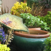 Water features can be small or large.
